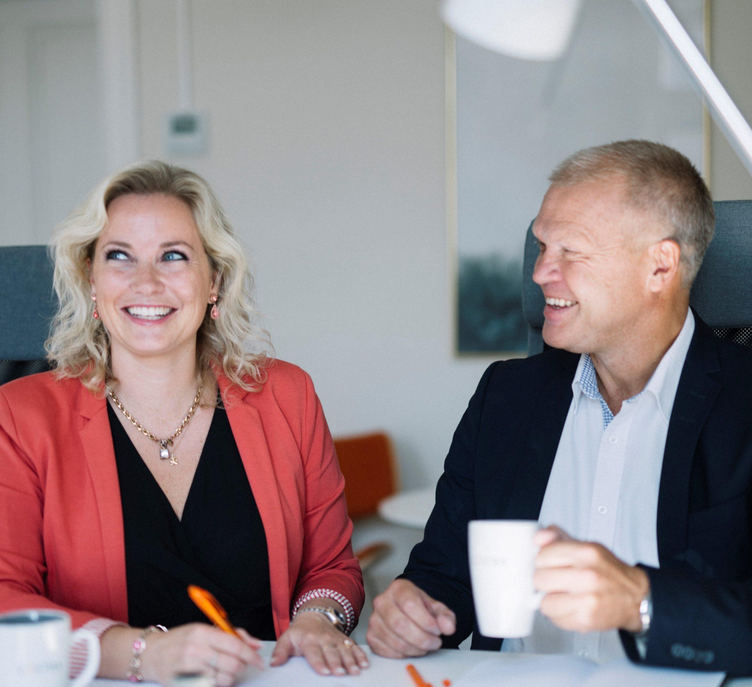 Elin Toft och Mikael Hammarin, VD på Castra Group AB