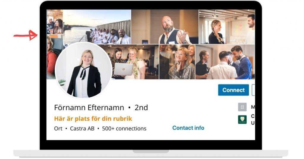Välj en bra LinkedIn-banner